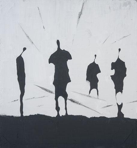 Quadro - Dipinto - Olio su tela - Quadro in bianco e nero