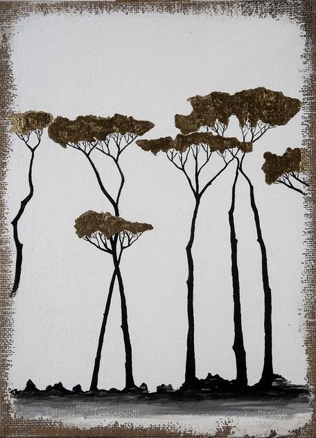 Opera pittorica - quadro  olio su cartone  - Quadro  figurativo