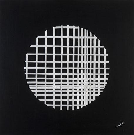 Quadro scultura - intarsio -Serie Optical Art