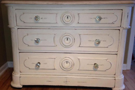 painted furniture french shabby creamy white dainty dandelion chester nj