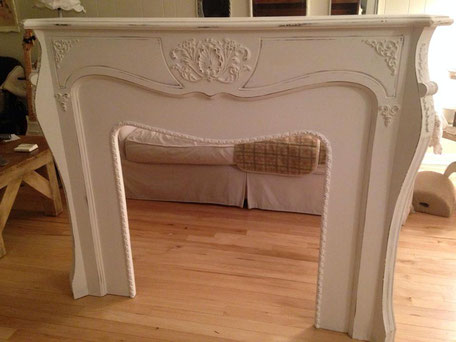 painted furniture creamy white fireplace chester nj dainty dandelion