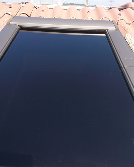 Tönungsfolie Sonnenschutzfolie Dachfenster Fetzer Beschriftungen Aldingen Aixheim
