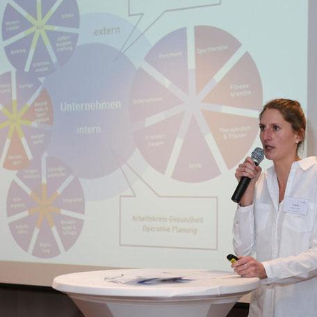 Eva Nilius bei ihrem Vortrag  auf der 1. REVITALIS Fachtagung zum BGM