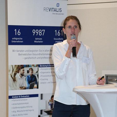 Eva Nilius  auf der 1. REVITALIS Fachtagung zum BGM