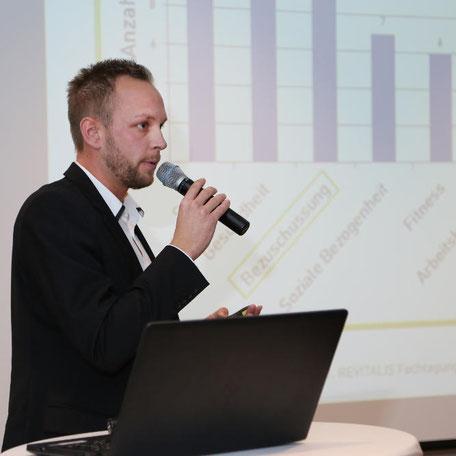 Marcel Diekmann  auf der 1. REVITALIS Fachtagung zum BGM