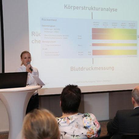 Sonja Laß  auf der 1. REVITALIS Fachtagung zum BGM