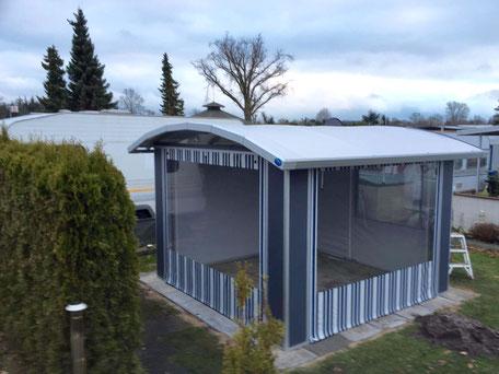 pavillon camping manufaktur festes vorzelt schutzdach und sonnenschutz. Black Bedroom Furniture Sets. Home Design Ideas