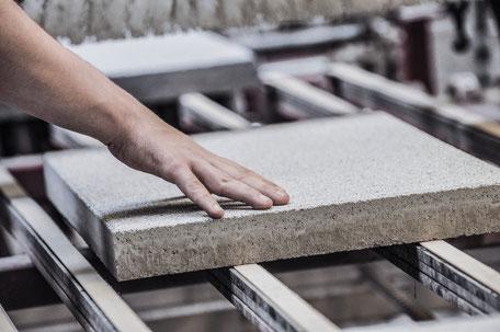 Produktion Betonplatte Pflasterstein