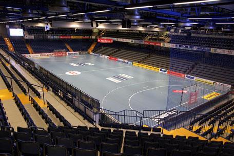 Die Phoenix Contact Arena, früher Lipperland-Halle, ist die Spielstätte des TBV Lemgo in der DKB Handball-Bundesliga
