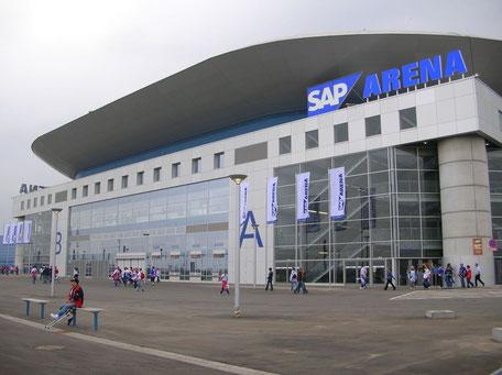 SAP-Arena in Mannheim, Spielstätte der Rhein-Neckar Löwen in der DKB Handball-Bundesliga und der EHF Champions League