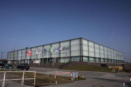 Die Flens-Arena in Flensburg ist die Spielstätte der SG Flensburg-Handewitt in der DKB Handball-Bundesliga