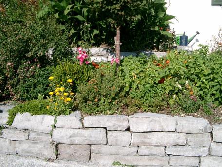 Halleiner Kalkstein Wechselmauerwerk