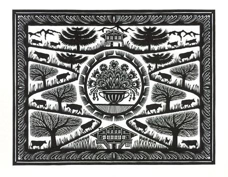 Traditioneller Scherenschnitt bzw. Papierschnitt