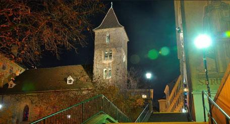 Die Ruprechtskirche - hier in einer friedlichen Nacht - ist die älteste Kirche Wiens. picturedesk/Willfried Gredler-Oxenbauer © Willfried Gredler-Oxenbauer / pi