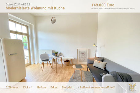 Eigentumswohnung mit Designer Möbel