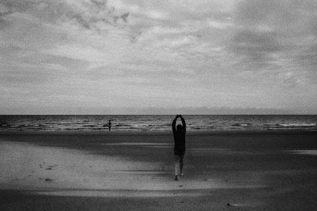 "LATVIA / From the book ""Auftakt"". Holding the sky. Baltic sea coast, 2007"