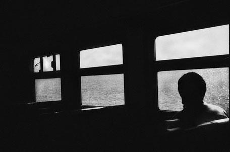 "LATVIA / Jurmala / From the book ""Auftakt"". View to Lielupe river from ""elektrichka"" - regional train, 2009"