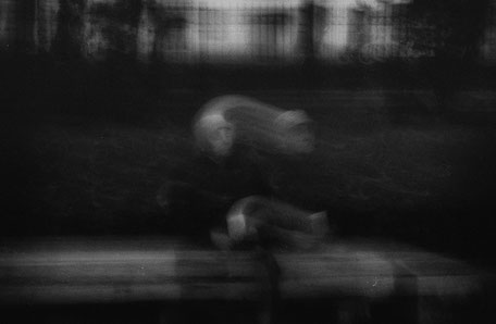 LATVIA/ Riga / From the book 'Auftakt'. Old woman on bench, 2006