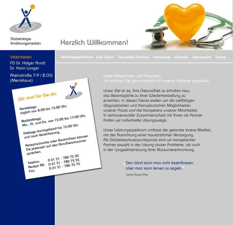 Arzt Diabetologie Homepage Rödermark Onlinedesign