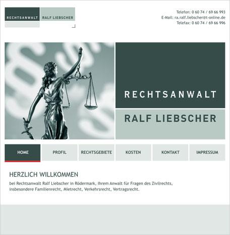 Rechtsanwalt Homepage Rödermark Onlinedesign