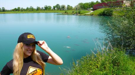 pêche des carpes sur le lac IKTUS