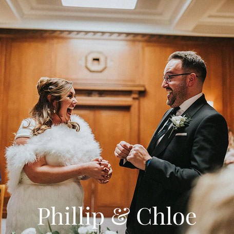 happy bride and groom at their Manchester wedding