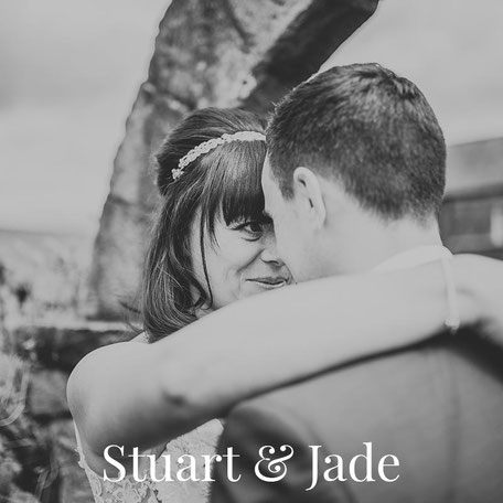 black and white portrait of a bride and groom in lancashire