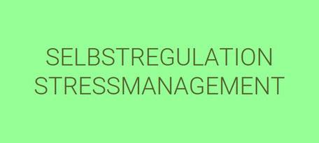 Resilienzfaktor Selbstregulation und Stressmanagement trainieren