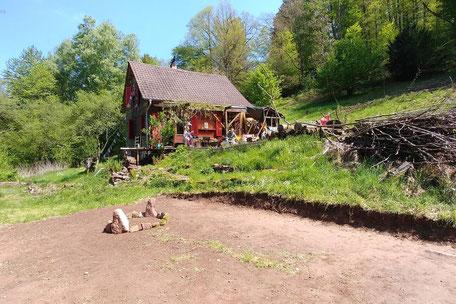 Mitten in der Natur: die Juval Retreat Alm im Odenwald