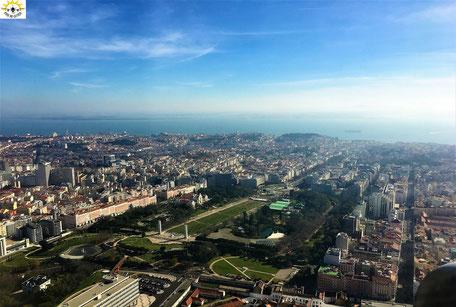 Landeanflug auf Lissabon