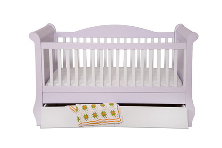 Babybett Kindercouch rosa weiß