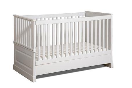 Babybett Landhausstil weiß Massivholz