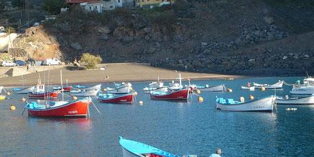 Der Strand von Vueltas im Vlle Gran Rey