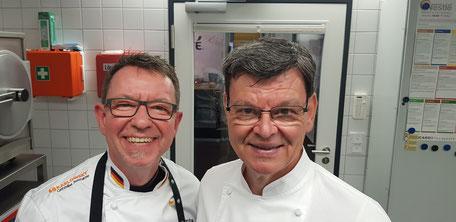 Haben gut Lachen... 3-Sterne-Spitzenkoch Harald Wohlfahrt (r.) und Andreas Buß (l.) beim Workshop