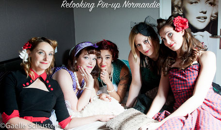 Relooking pin-up pour un groupe anniversaire, shooting photo