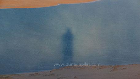 Dune du Pilat brouillard soleil spectre
