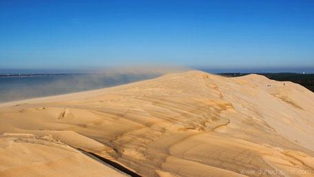 Dune du Pilat vent sable tempête