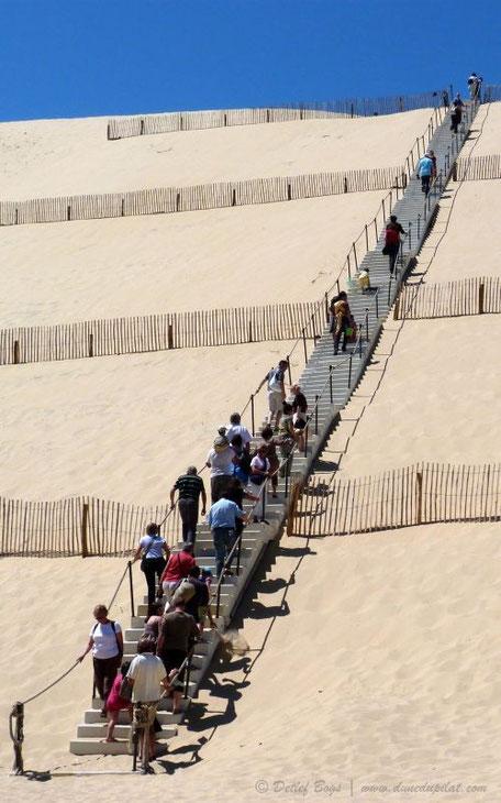 Dune du Pilat - Scala con 160 gradini