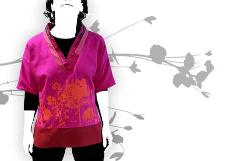 Oberteil Pink Blumenwiese . 110,00€