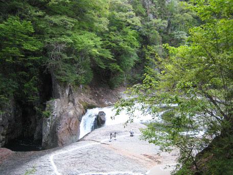 吹割の滝白線