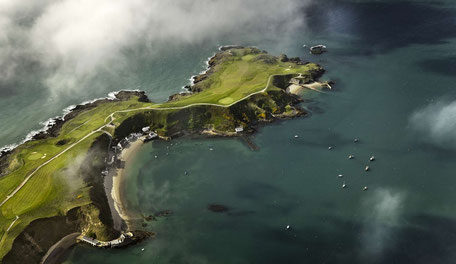 Luftbild vom Nefyn Golfplatz