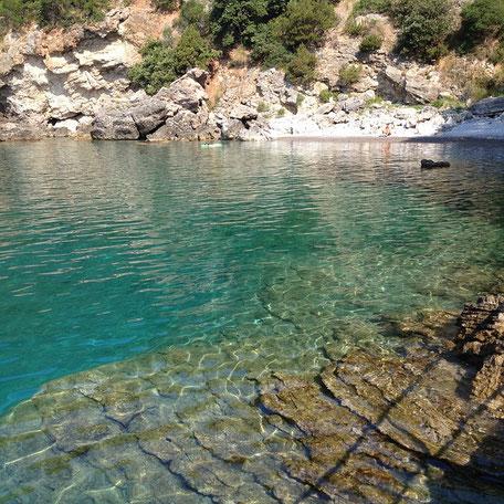 kristallklares Meer im Cilento
