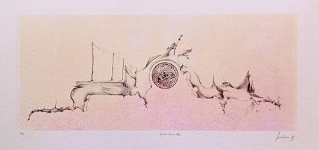 Litografia numerata stampata dall'autore  Numero copie 4