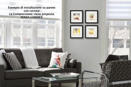 Installazione mini quadri in sala d'attesa