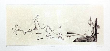 Litografia numerata stampata dall'autore  Numero copie 10  Colori N. 2
