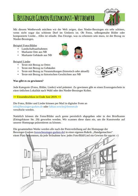 1. Bessinger Gurken Kleinkunstwettbewerb