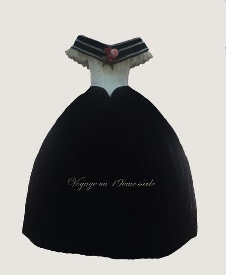 location robe de bal Fete Napoleon III Vichy