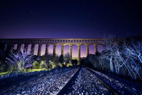 Aqueduc de Roquefavour de nuit - Aix en provence