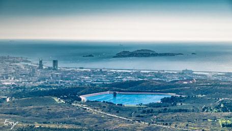 Les iles du Frioul vu de la Grande étoile - Marseille