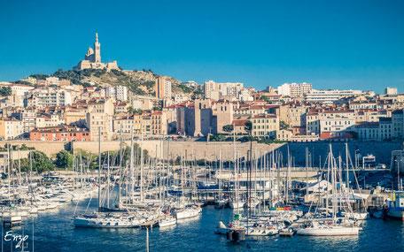Marseille - Vieux Port - Notre dame de la garde